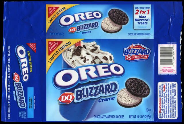oreos packaging | CC_Nabisco - Oreo - DQ Blizzard Creme cookie package - 2010