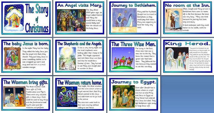 KS2 Religious Education Teaching Resources - Christianity - Free Story of Christmas, Nativity Printable Poster Set