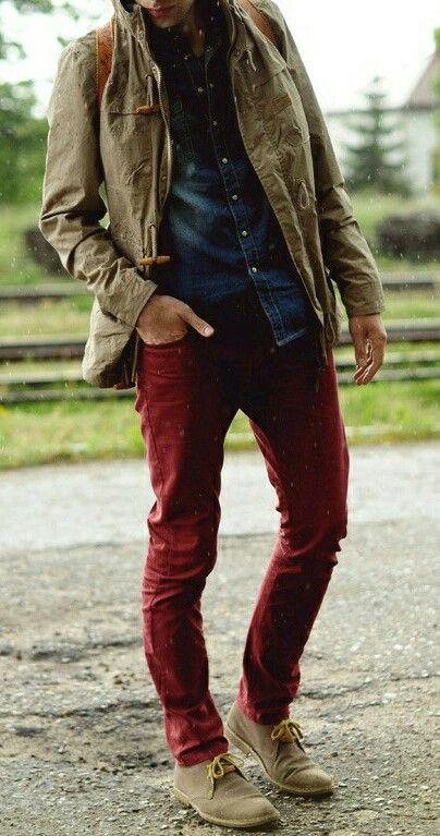 Best 25+ Burgundy pants men ideas on Pinterest   Red pants men Adam menswear and Navy smart day ...