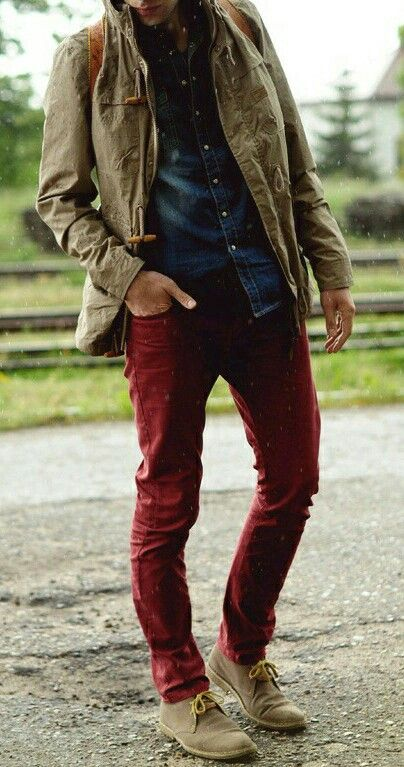 Burgundy pants                                                                                                                                                                                 More