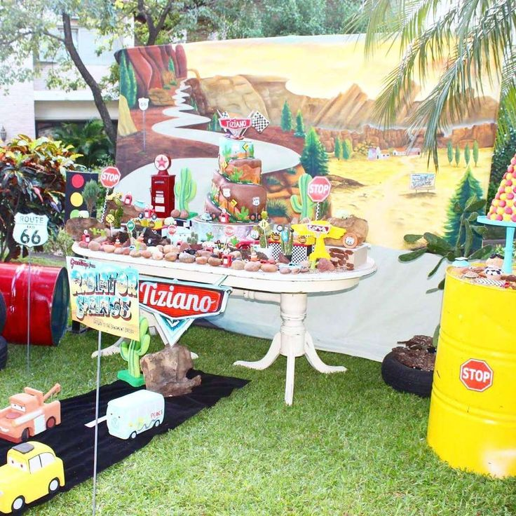 cars party Birthday Party Ideas | Photo 1 of 28