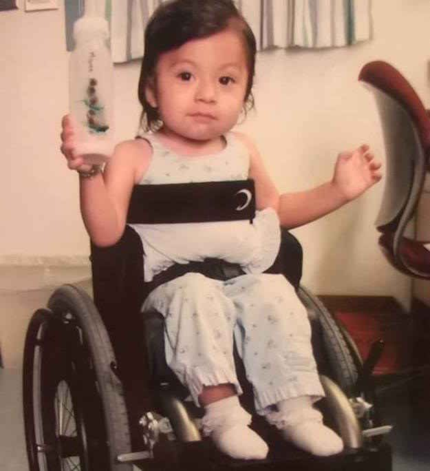 Surprenant explained that Marie suffered severe physical abuse in her biological mother's home. Her injuries resulted in her becoming a paraplegic, and she is paralyzed from the waist down.