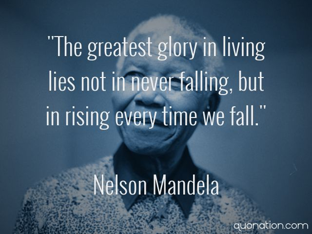 glory and hope by nelson mandela