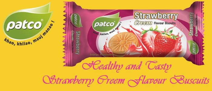 We know That Most of People are like #Strawberry so we provide healthy and tasty strawberry #Creem flavour #Biscuits.   If you Like it just Share it  http://www.patcofood.com/product.html