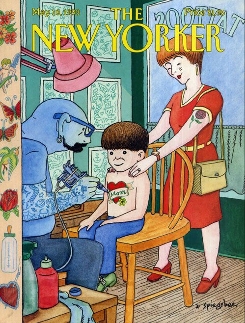 The New YorkerThe New Yorker, Web Design, Mothers Day, Happy Mothers, Art Spiegelman, A Tattoo, Blog Design, Yorker Covers, Magazines Covers