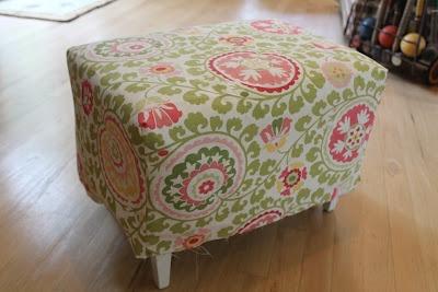 Elizabeth & Co.: Easy Bench Slipcover Tutorial