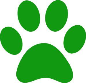 Green Paw Print Clip Art