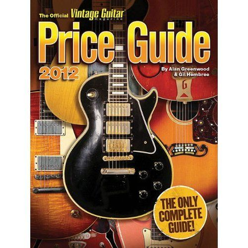 At nearly 600 pages with information on more than 1,900 brands and 1,400 photos, The Official Vintage Guitar Magazine Price Guide is the industry-leading reference for values on vintage and collectible guitars, basses, lap steels, mandolins, ukuleles, banjos, amps, and effects. Published annually by Vintage Guitar magazine. http://www.amazon.com/gp/product/1884883230/ref=as_li_ss_tl?ie=UTF8&tag=pocofoottrad-20&linkCode