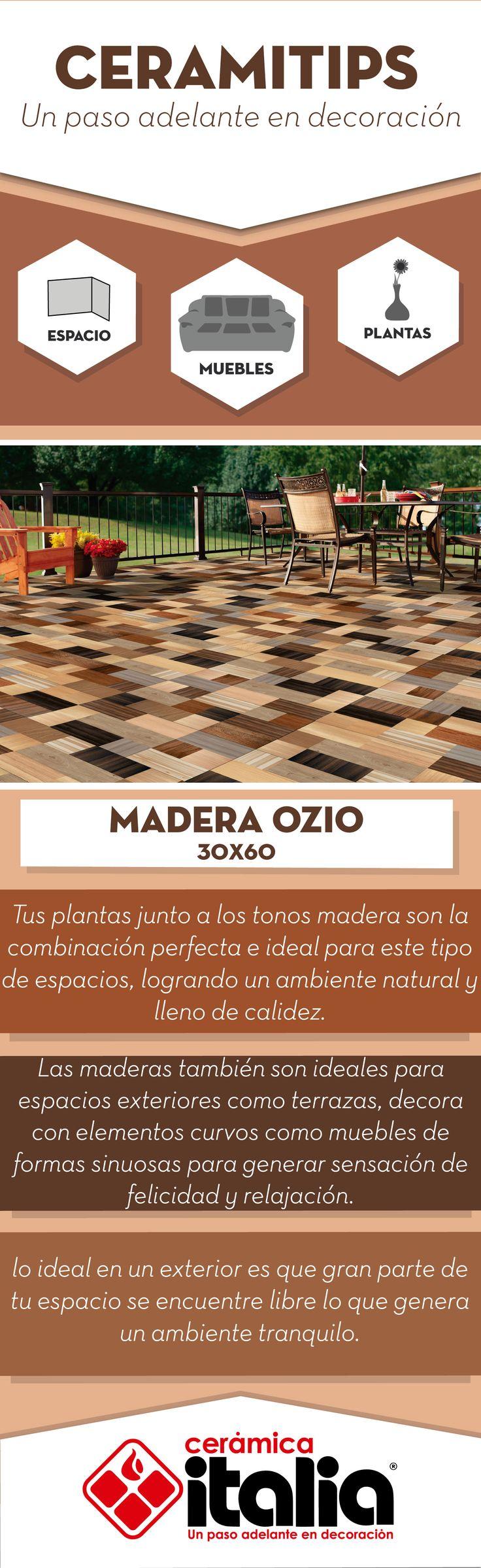 En tus maderas también son ideales para espacios exteriores como terrazas, decora con elementos curvos como muebles de formas sinuosas para generar sensación de felicidad y relajación. #Maderas #Woods #Exteriores #Outdoor #Planta # Plant  #Marrón #Brown