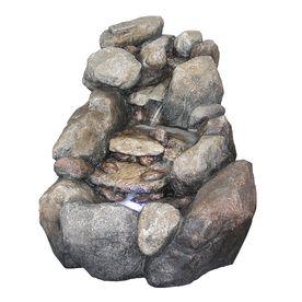 Garden Treasures 23 5 6 2 Tier Faux River Rock Fountain 400 x 300
