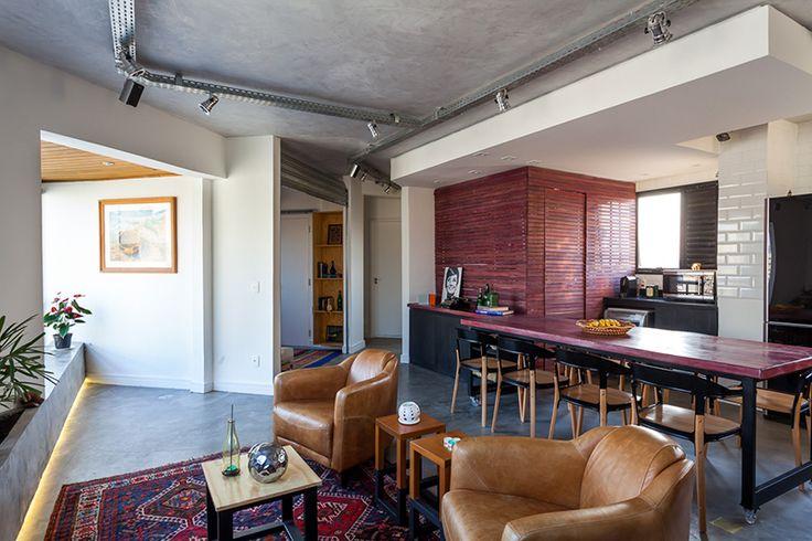 Dá pra ter uma decor industrial em apartamento sim! Duvida? Vem ver!