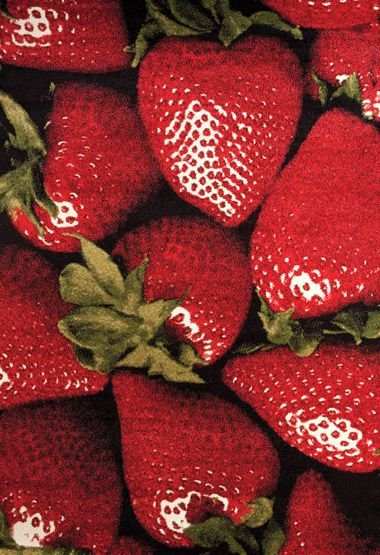 ARTWIST STRAWBERRIES home carpets decor red strawberries