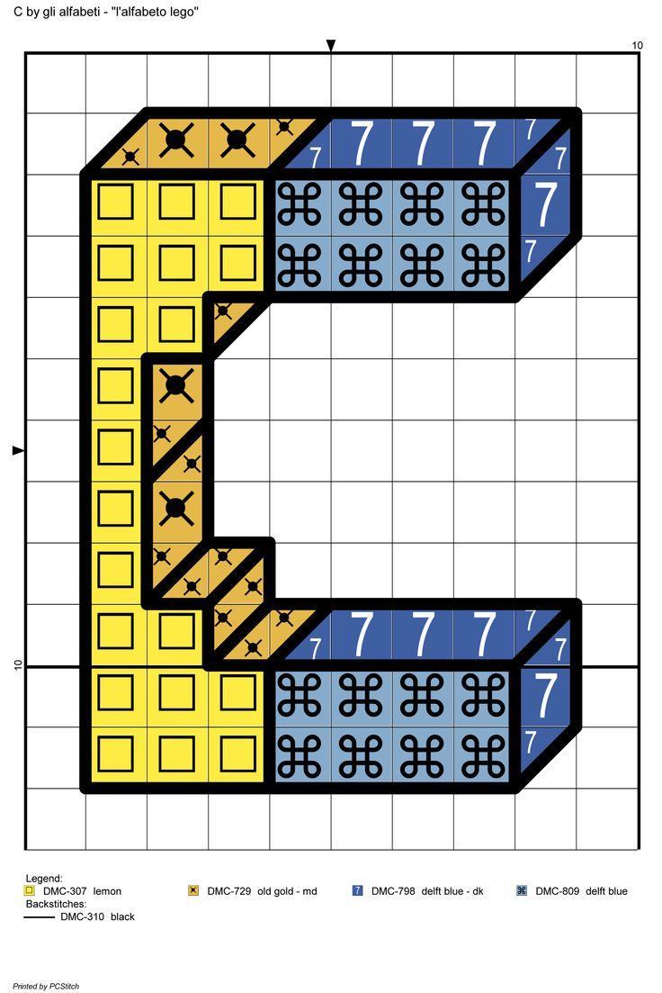alfabeto lego: C