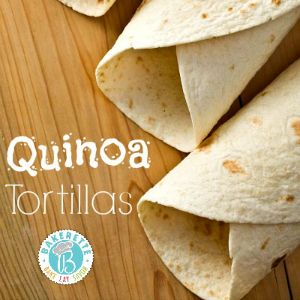 """These homemade tortillas are not only made with the superfood quinoa, but they are flexible and strong enough to hold your filling. #GlutenFree #vegan . Quinoa (pronounced """"keen-wah"""") is chock full of healthy benefits and dates back 3,000 to 4,000 years ago when it was domesticated by the Andeans!"""