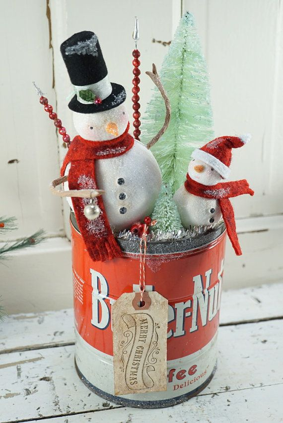 Vintage Tin Christmas Tree Ornaments : Best images about sweet snow folks on
