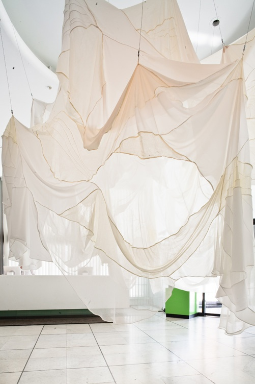 Textile installation by Diana Orving