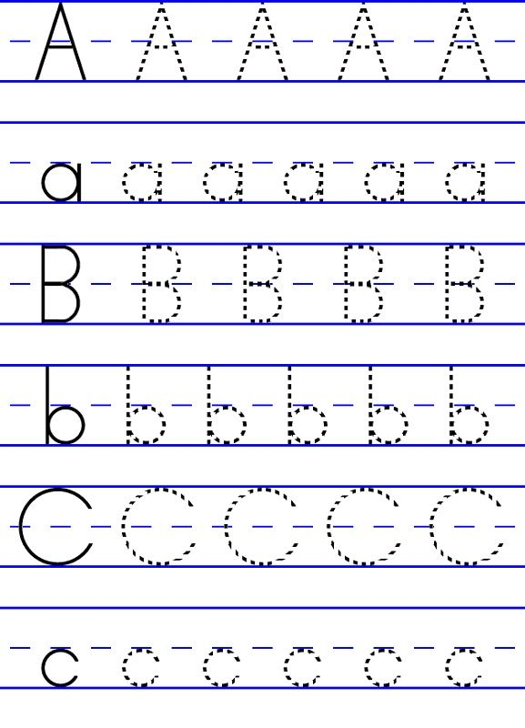 abc traceable worksheets free | K5 Worksheets | Alphabet and Numbers ...