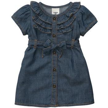 Short-Sleeve Chambray Dress Set Size 9 month $21 on OshKosh web-site