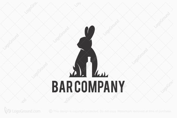 Rabbit Bar logo. You can buy my logo design at http://www.logoground.com/logo.php?id=22238
