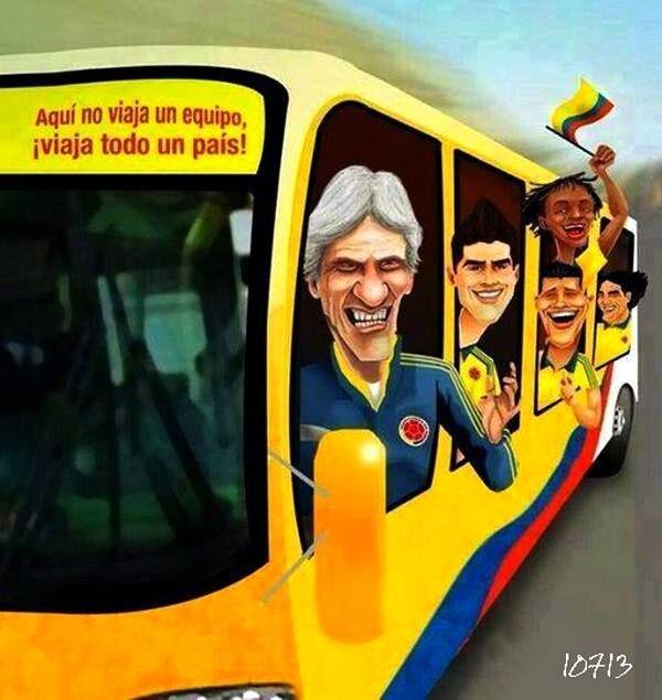 Mi Amada Selección Colombia en el Mundial Brasil 2014.