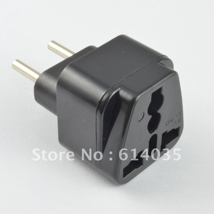 EU (4.0) plug to universal socket /Travel Adapter (not inc Germany)