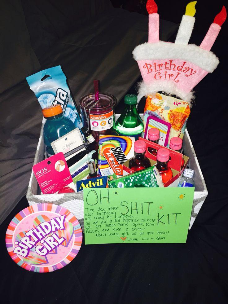 Bestfriend S 21st Birthday Quot Oh Shit Kit Quot Diy Pinterest