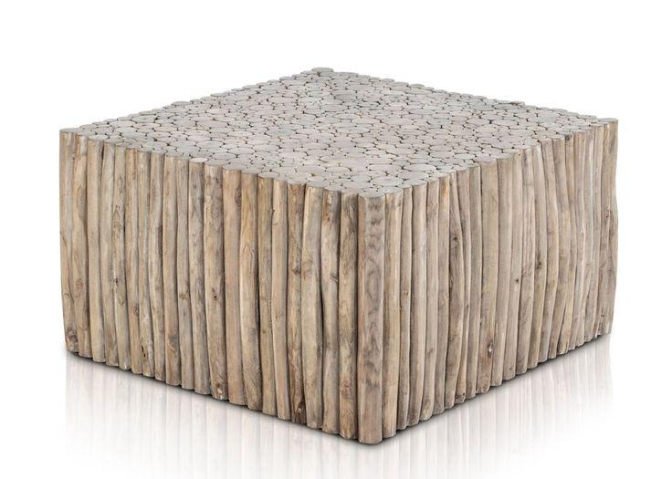 Couchtisch Aus Teak Astwerk Massivholz Natur Quadratisch 21251 Buy Now At