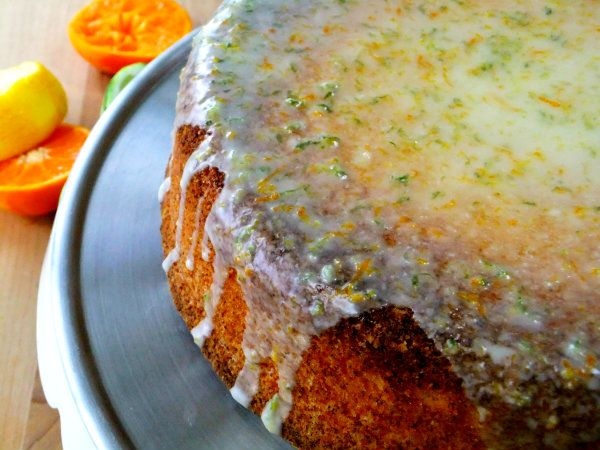 Olive Oil and Chardonnay Pound Cake with Citrus Vanilla Glaze