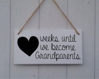 New Baby Pregnancy Countdown Plaque Chalkboard by DollyDoodahs