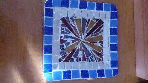 Plato decorativos de vidrio