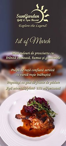 Photo: Check out our 1st of March Menu! Celebrate Spring with us! http://sungardenresort.ro/news-archive/177-1st-of-march-women-s-month