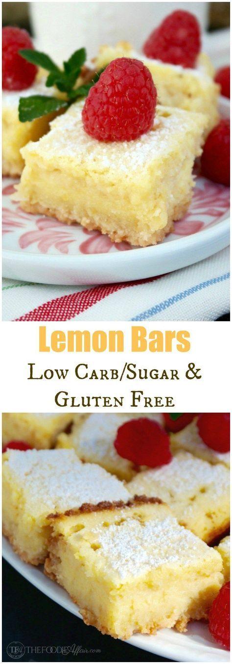Lemon Bars (Low Carb & Gluten Free)
