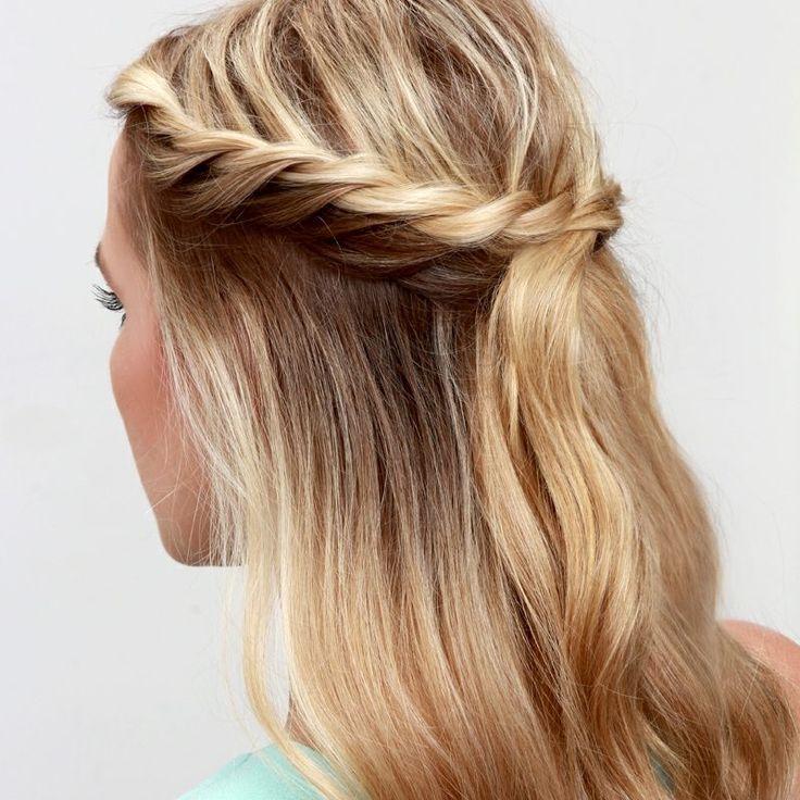 Flechtfrisuren Halboffen Faszinierende Ideen Zum Nachmachen Faszinierende Flechtfrisuren Halboffen Id Crown Hairstyles Hair Tutorial Braided Hairstyles