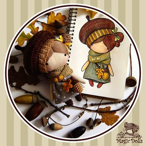 Ma Petite Poupee - Acorn, h=11cm (for sale, doll+Worldwide delivery=30$)…