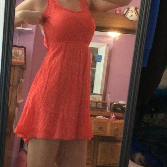 Orange lace dress Side zipped orange lace dress Mossimo Supply Co Dresses