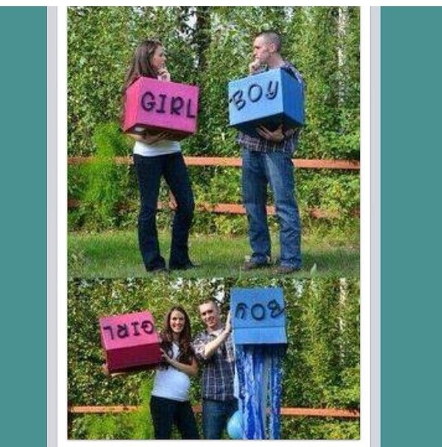 Cute gender reveal idea!