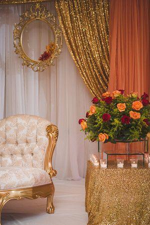 Fall, gold, orange, red, indian wedding, pakistani wedding, engagement