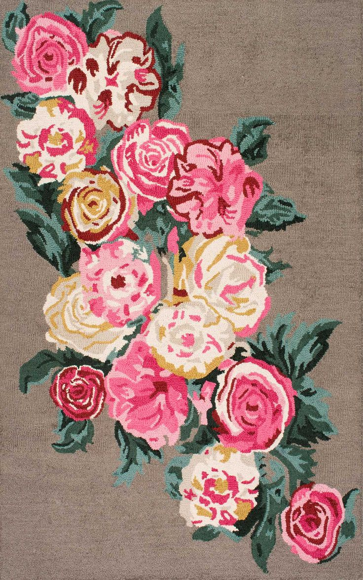 There is nothing like a beautiful floral rug like this Rugs USA Topall PE01 Hand Hooked Beautiful Rose Bouquet Rug!