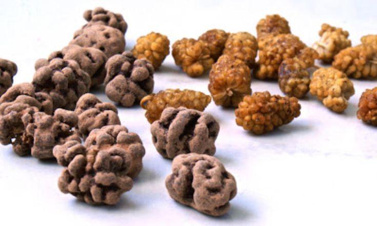 Cacao en Moerbeien, gezond snoep!