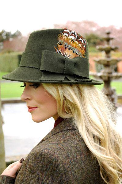 A stylish wool Trilby hat in Loden. www.sabelle.co.nz  d777b44589e