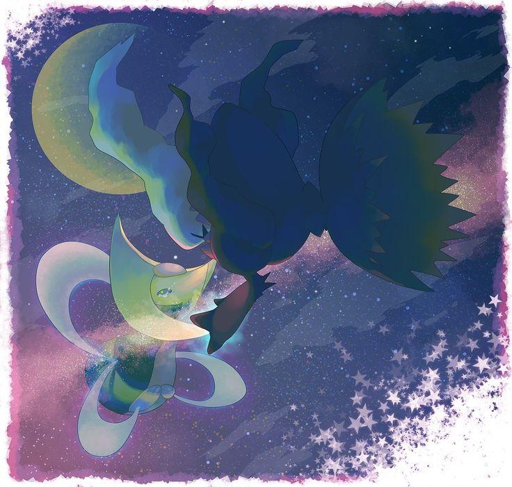 Alternative Pokemon Art Artist Darkrai And Cresselia By Request I Pok 233 Mon Pinterest
