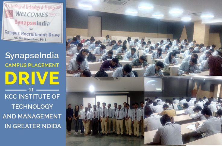 An exclusive campus placement drive by SynapseIndia was conducted at KCC ITM in Greater Noida, Uttar Pradesh on 9th Nov, 2016. B.Tech students from CSE & ECE streams & MBA final year students appeared in SynapseIndia campus placement drive. We offer SynapseIndia career opportunities to B.Tech freshers through campus recruitment for open positions with us in different IT & business disciplines including .Net, Android, SEO, ORM and Testing. For more information, visit SynapseIndia job website.