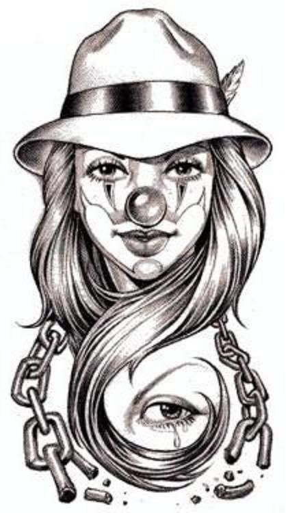 Gangster Clowns Tattoos: 10 Best Images About Insanity On Pinterest