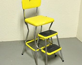 Vintage Cosco stool/step. Memories from childhood. Sigh. My Great-Grandparents at a teal one of these,
