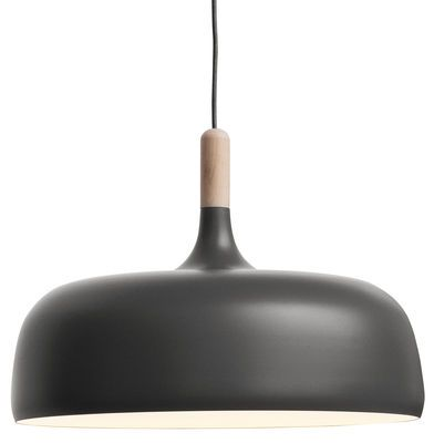 LUM020 - Suspension Acorn Gris / Bois naturel - Northern Lighting - Décoration et mobilier design avec Made in Design