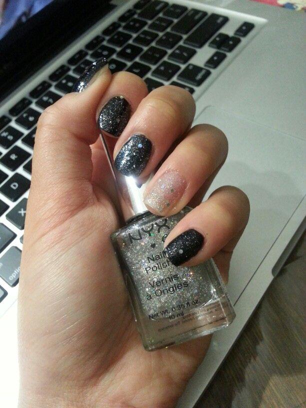 Nyx black & glitter ★