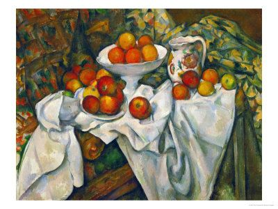 Apples and Oranges by Paul Cézanne. Giclee print from Art.com.