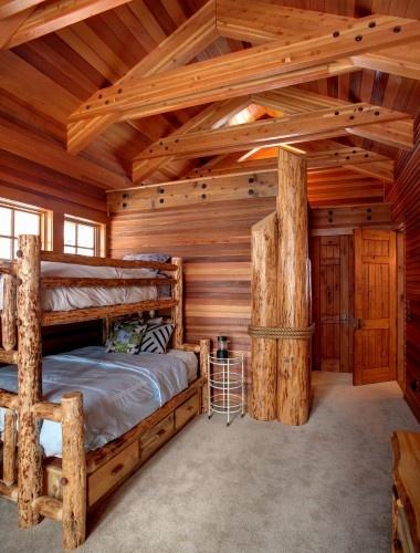 Boys room log cabin  Bedroom Bliss  Log home designs Log cabin homes Timber house