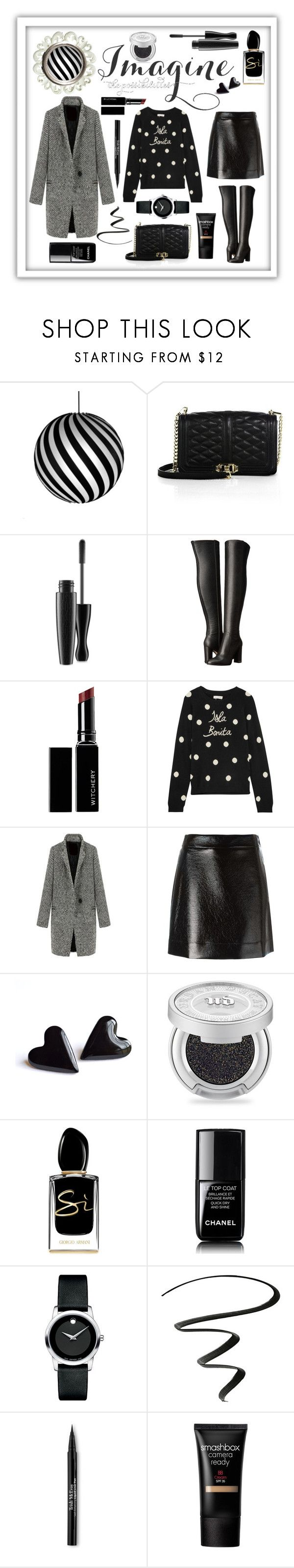 """Imagine The Possibilities #wintersweater"" by shaheenk ❤ liked on Polyvore featuring David Trubridge, Rebecca Minkoff, MAC Cosmetics, MICHAEL Michael Kors, Witchery, Chinti and Parker, Urban Decay, Giorgio Armani, Chanel and Movado"