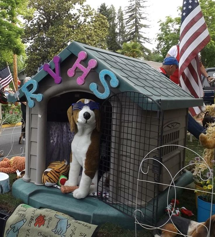 Part of the Rogue Valley Humane Society float in the